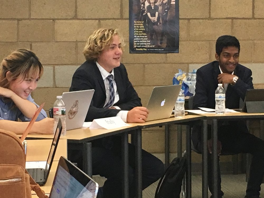 Quest #3: Model United Nations: Students Engaged in a Model UN Conference at Portola High School