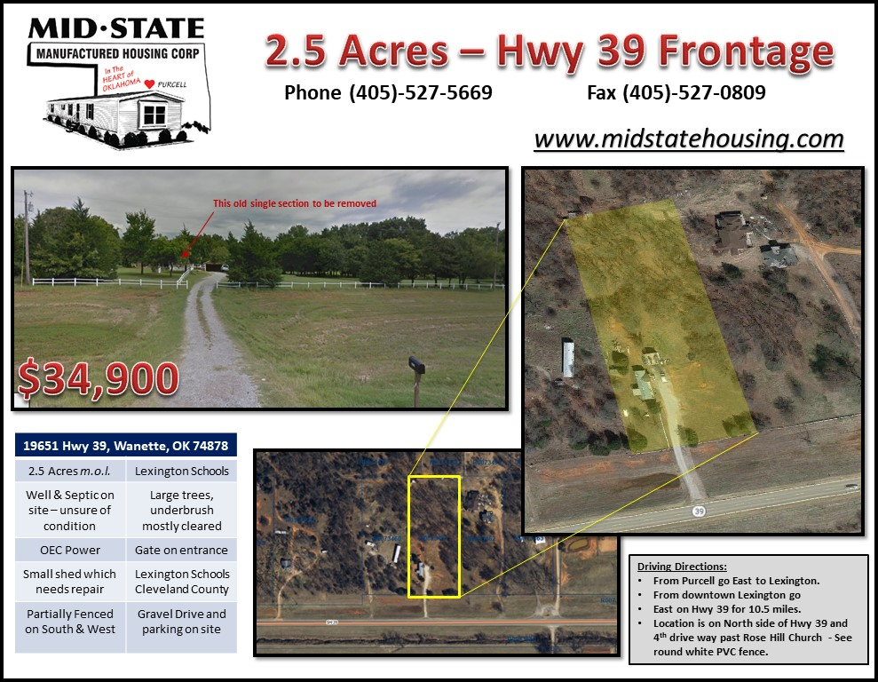 2.5 Acres-HWY 39 Frontage