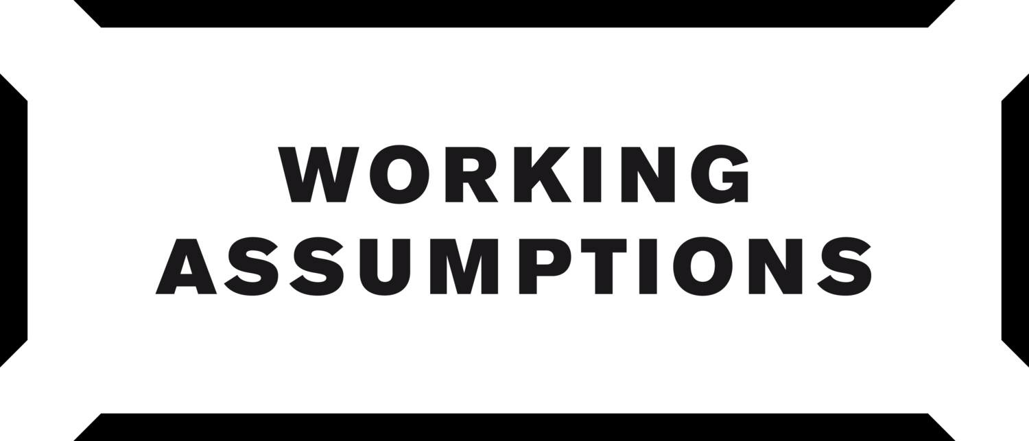 Working Assumptions