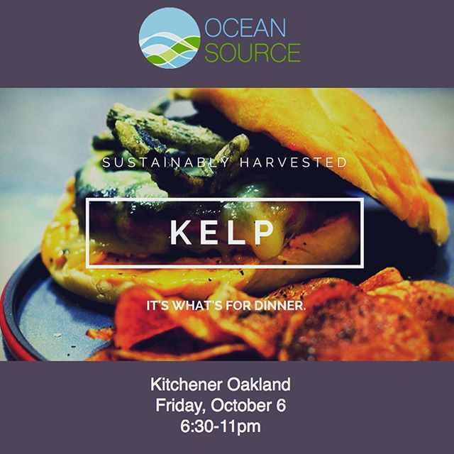 This Friday night. Get ready #oakland!  6:30pm at #kitcheneroakland 372 24th Street Oakland, CA  https://www.oceansourcefarms.com/first-friday-october-6  #kelpburgers #kelprelish #eatkelp #seaveggies #oaklandfirstfriday