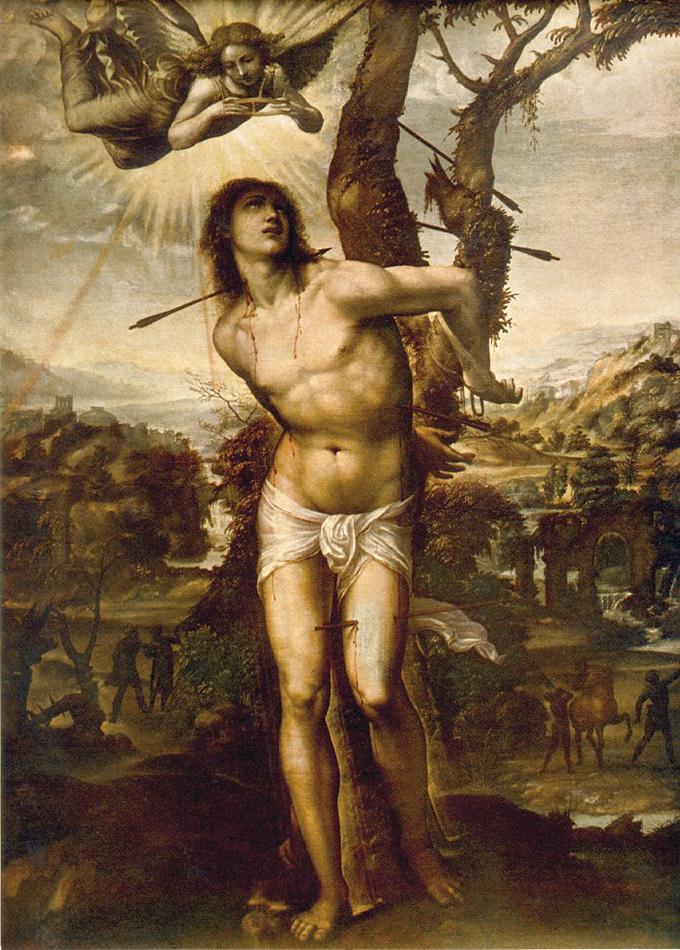 St Sebastian by Il Sodoma