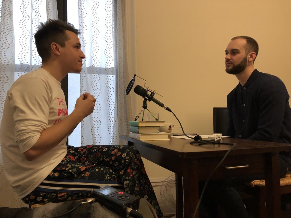 Corey Camperchioli speaking with Joshua Croke