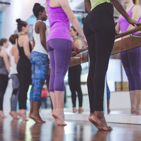 Barre - A high-energy mix of Pilates, ballet,hip-hop, and Plyometrics.Open to everyone