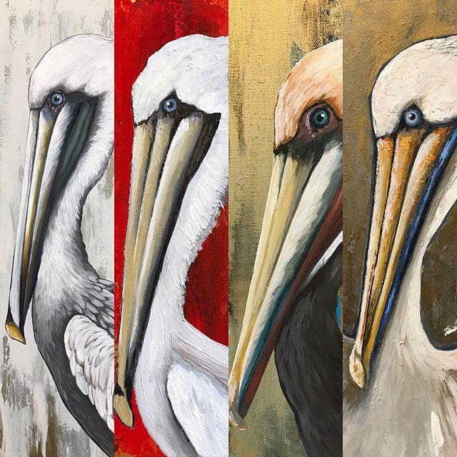 I've probably painted 50 pelicans over the last few weeks.❤️ #dreamingofpelicans #pelicansinmysleep #brownpelican #louisianapelican #pelicanpainting #louisianabirds #birdpainting #giftgivingseason #louisianaartist #louisianaart