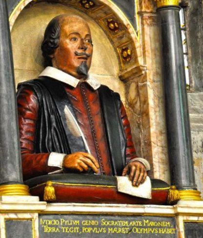 Shakespeare's Funerary Monument  (Holy Trinity Church, Stratford)