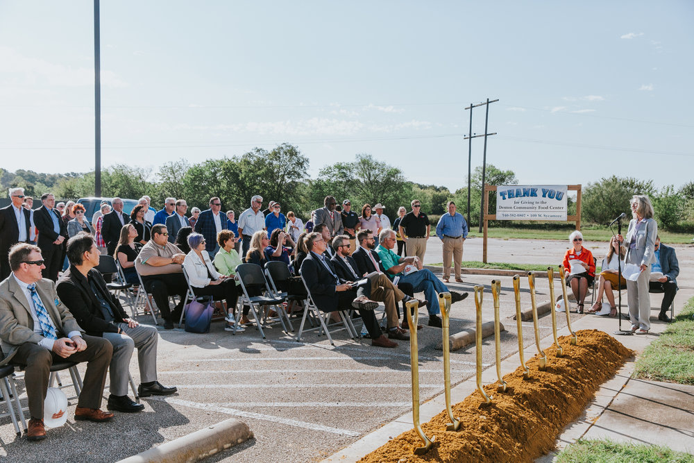 Health Services of North Texas COO Debra Layman speaking at the Groundbreaking Ceremony.