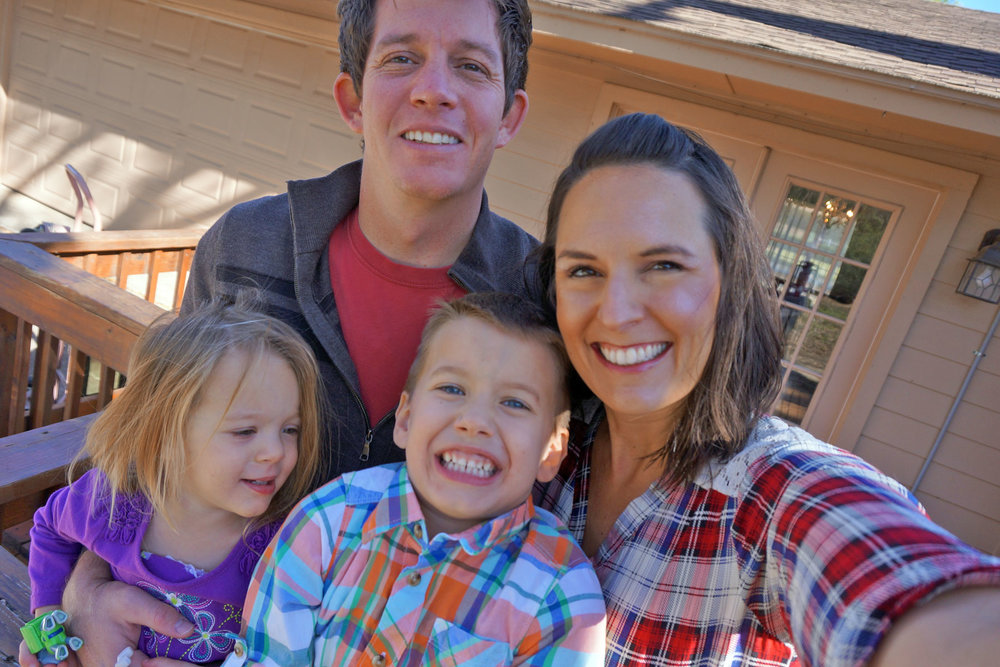 Ashlee with her husband Ryan and their two kids Morrison and Maybel.