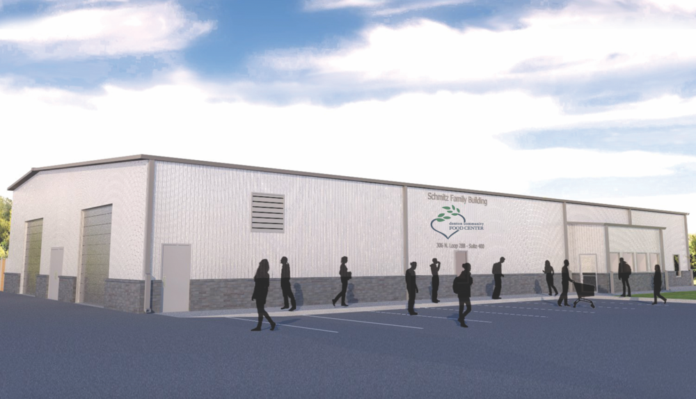 Denton Community Food Center building rendering created by  Bates & Martin Architects