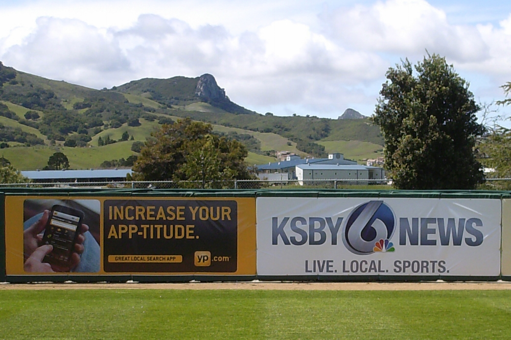 SPORTS BANNERS - From little league fields to the pro's, these banners provide a powerful tool to get your message out to the fans. From children's soccer banners to professional brands, we do it all. People staring at your logo for a few hours? Not a bad idea.