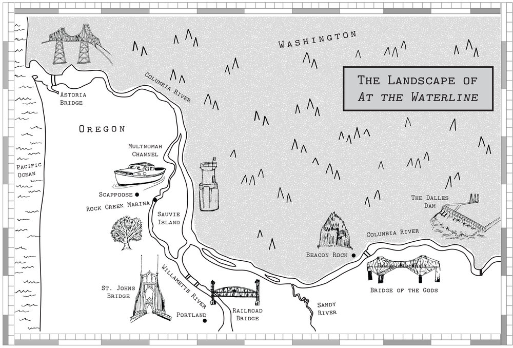 ILLUSTRATED MAP FOR AT THE WATERLINE