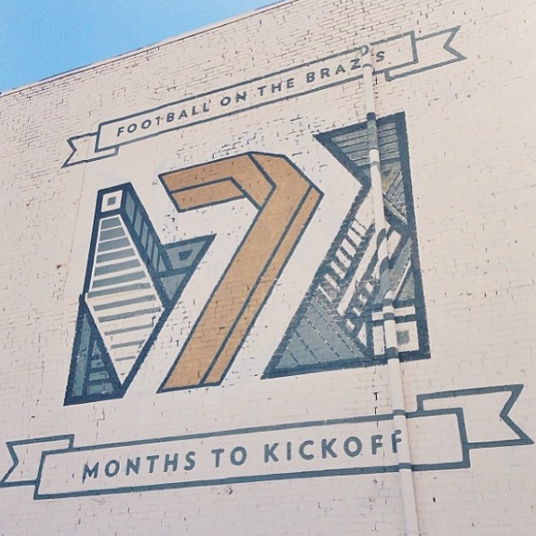 Mural collaboration for Baylor University's football season at the new McClane Stadium
