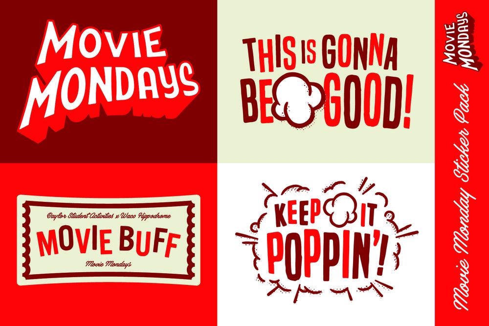 Movie Mondays Sticker Sheet