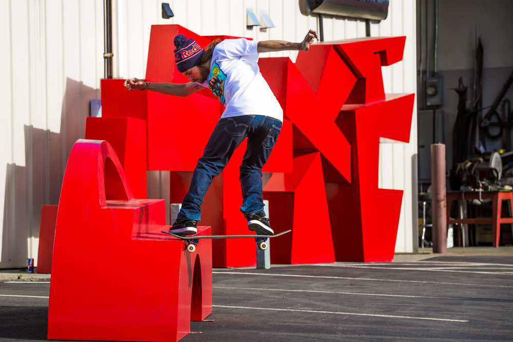 Torey Pudwill RedBull CJ Rench Sculpture. Hood River, OR