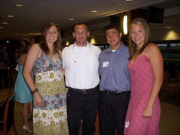 Purdue T&F Banquet 2008: Me, Jim, Steve, Lindsey!