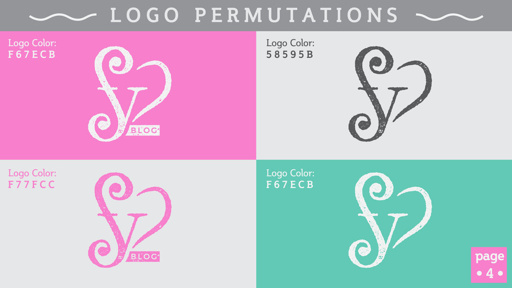 Feefe Yorka Blog Logo Color Variants - Studio 1816 Designs