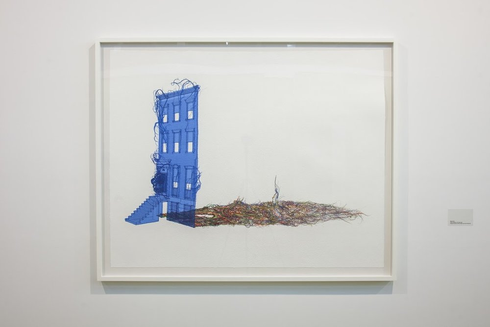 "Do Ho Suh, ""Blueprint,"" 2014. Watercolor on paper. 17 13/16 x 12 5/8 inches. Courtesy of the artist and Lehmann Maupin, New York and Hong Kong. Photograph by Brian Fitzsimmons."