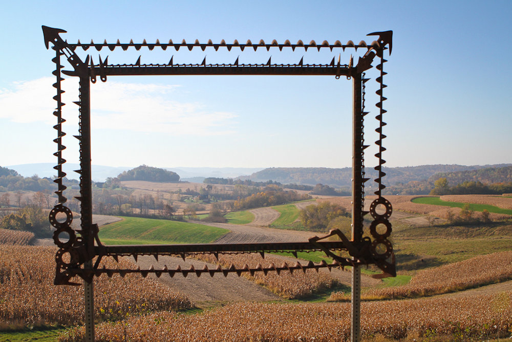 """Framed Frame"" by David Wells, as installed at the 2011 Farm/Art D'Tour at Fermentation Fest. Photo by Ann Foley on Flickr."