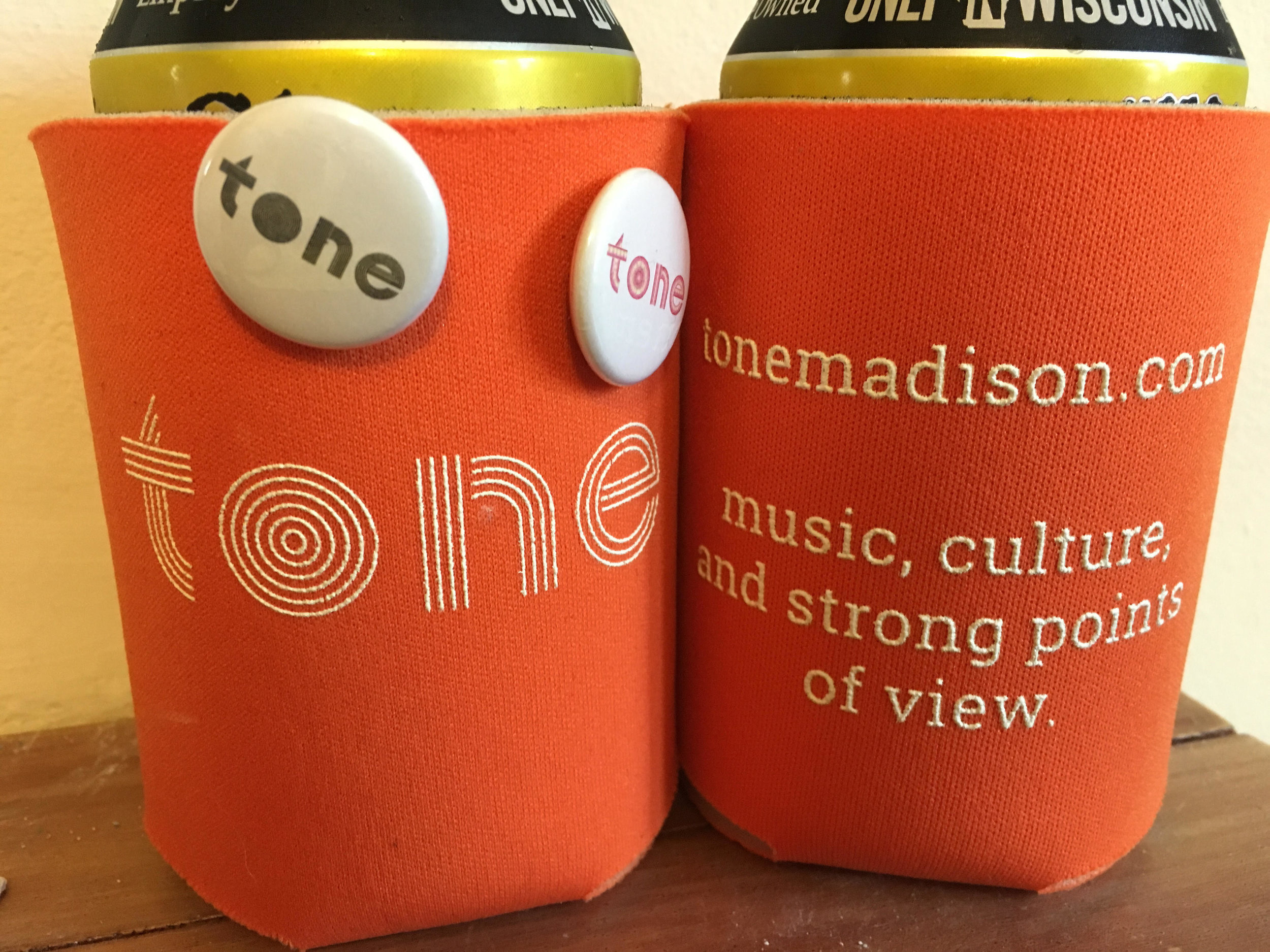koozie and button pack tone madison