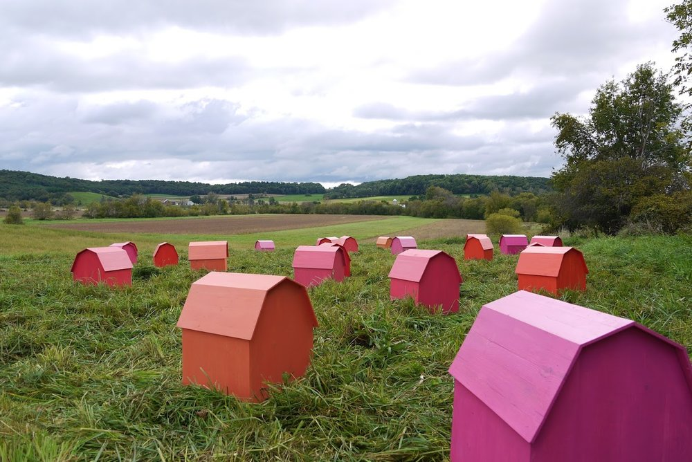 "Michael Kautzer's ""Gambrel Farm"" installation. Photo courtesy of the artist."