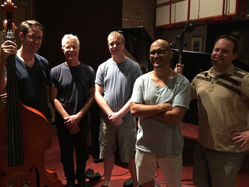 The Ben Ferris Quintet are, from left to right, Ben Ferris, Paul Hastil, Paul Dietrich, Miguel McQuade, and Nicholas Bartell.