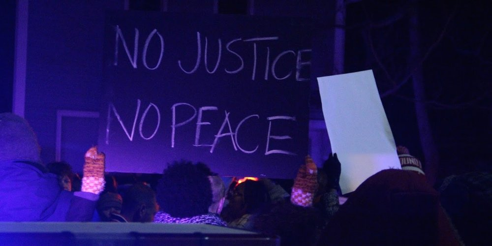 Madisonians protest the March 2015 killing of Tony Robinson by a Madison Police Department officer. Photo by Preston Austin via Flickr.