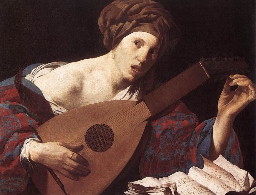 """Woman Playing The Lute"" by Hendrick ter Brugghen. Image via Wikimedia Commons."