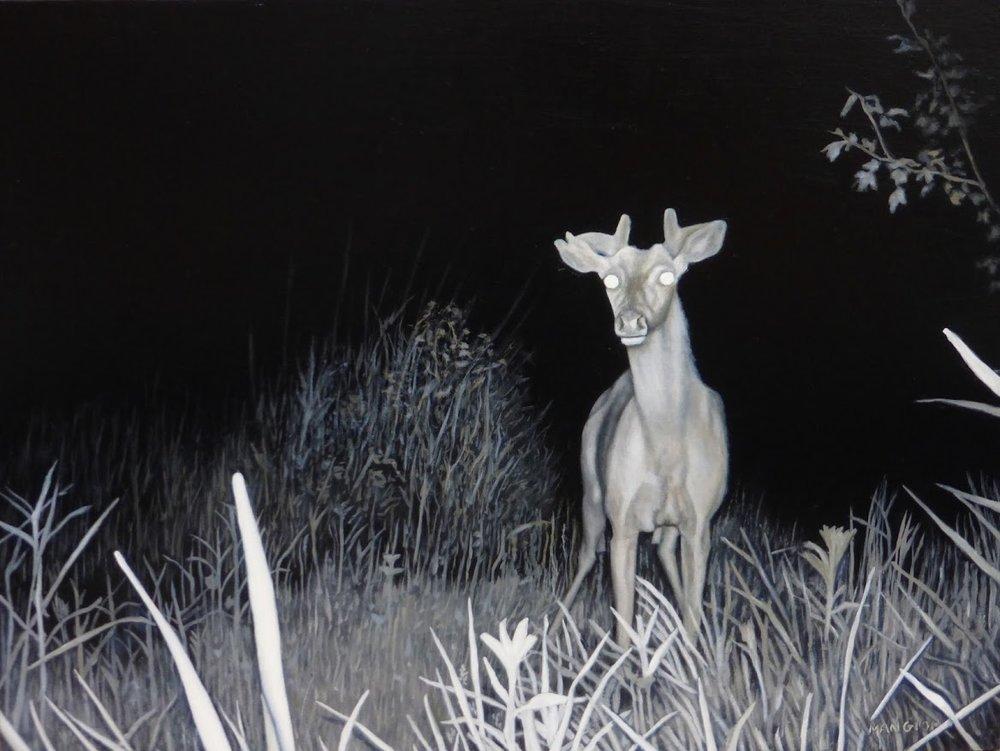 """Valerie Mangion's painting """"Giraffe Deer."""""""