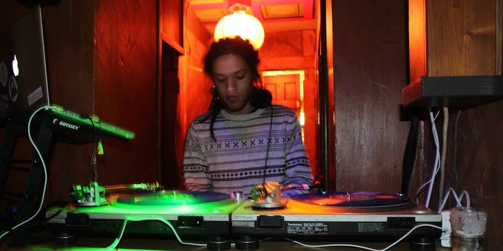 Jordan Ellerman, aka DJ Umi, spinning recently at Nattspil. Photo by Ariel Brooke.
