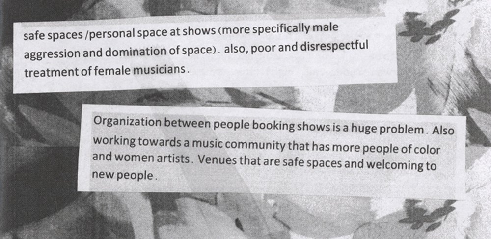 Excerpt from Jennifer Bastian's Half-Stack Sessions zine.