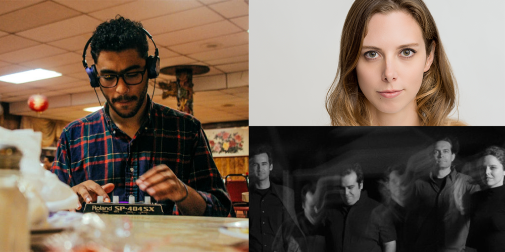 Clockwise from left: Milo plays Jan. 7 at the Majestic and Jan. 9 at 100state, Rebecca Scherm reads Jan. 9 at Mystery to Me, and Bell Monks play Jan. 9 at Audio for the Arts.