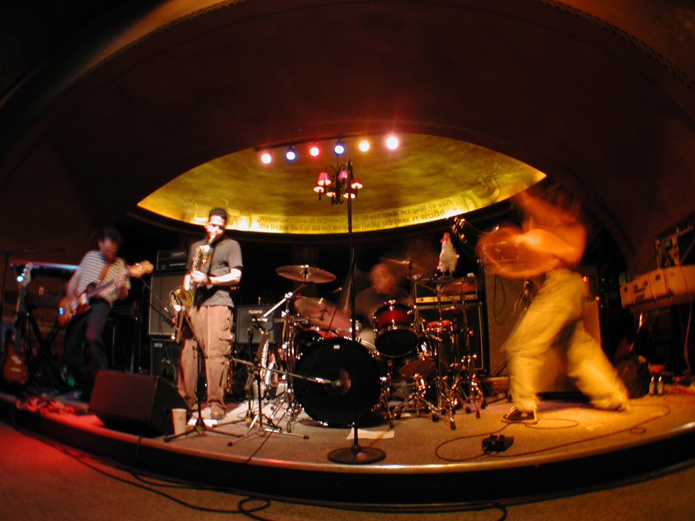 P'elvis playing live at the Rathskeller, circa 2000. Photo by Eric Tadsen.