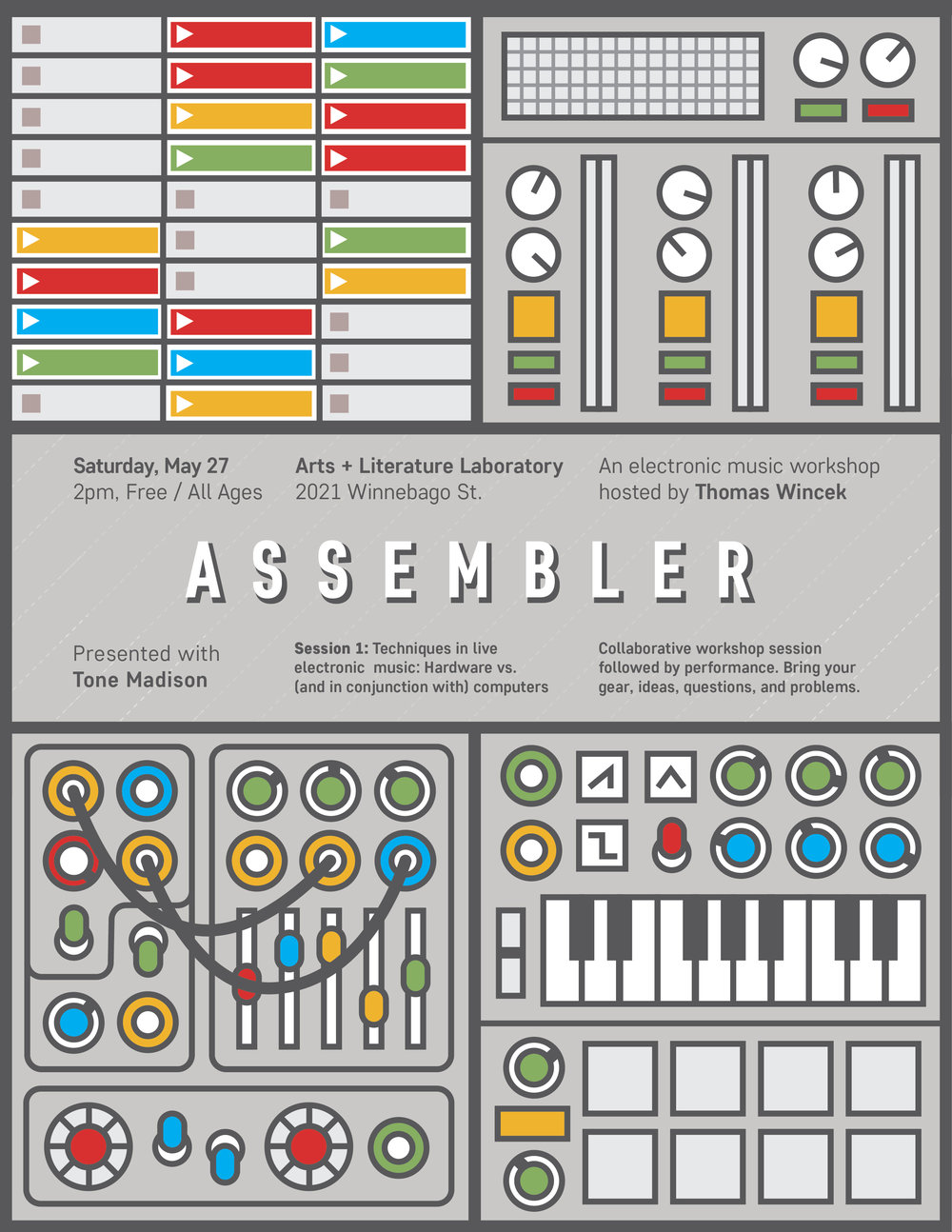 5/27/2017: Assembler Electronic Music Workshop #1