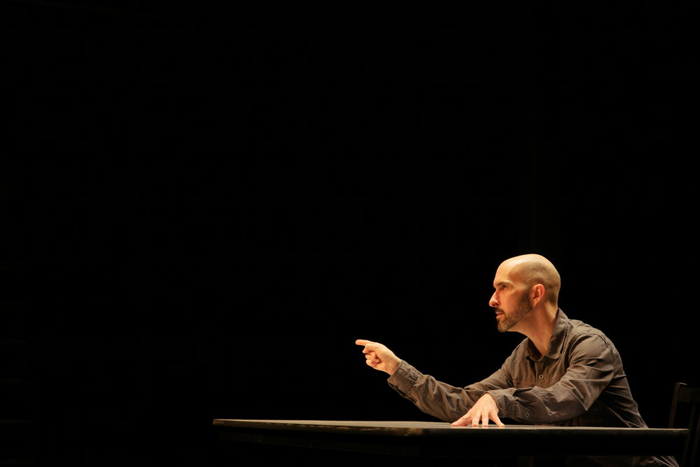 Jason Compton as Mike Daisey. Photo by   Benjamin Barlow.