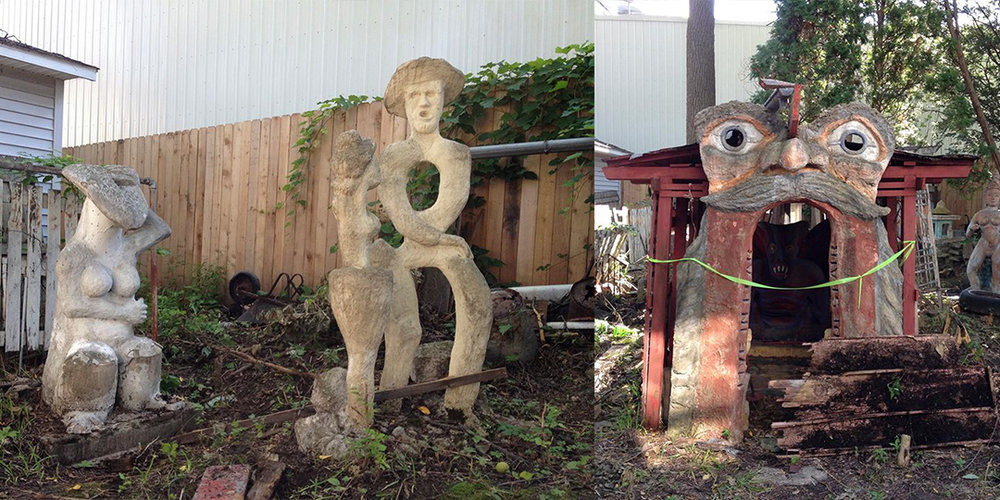 Just a few of the sculptures in Sid Boyum's backyard. Photos by Angela Richardson.
