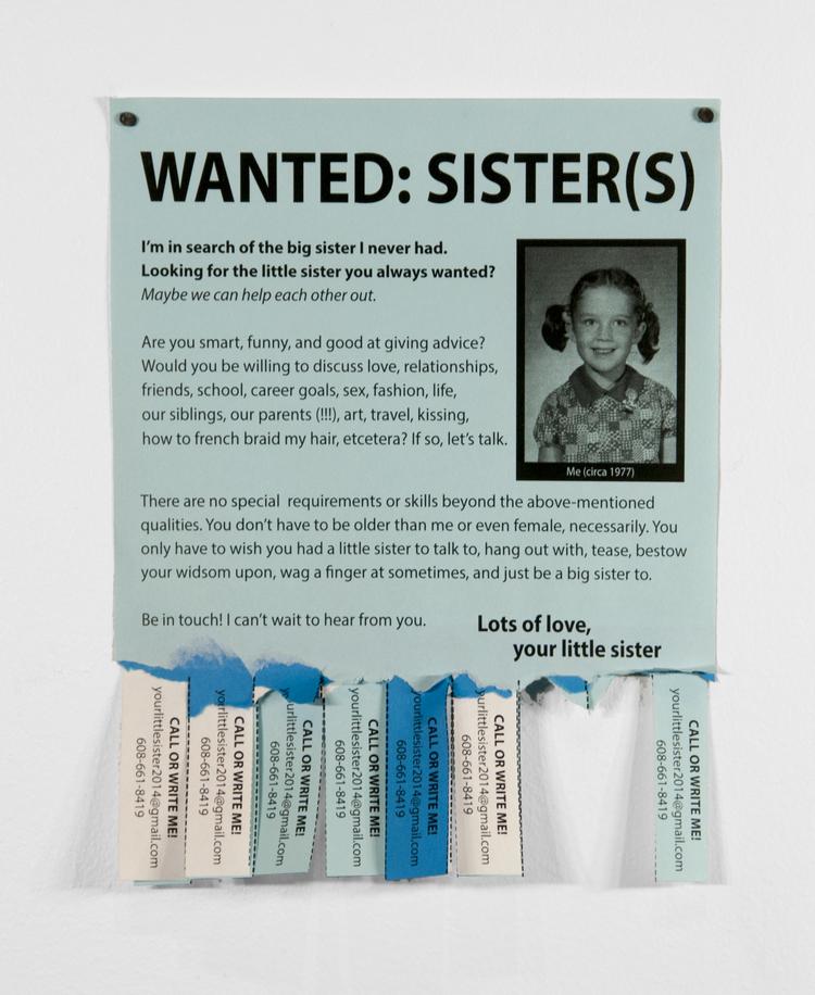 """Angela Richardson, """"Wanted: Sister(s)"""""""