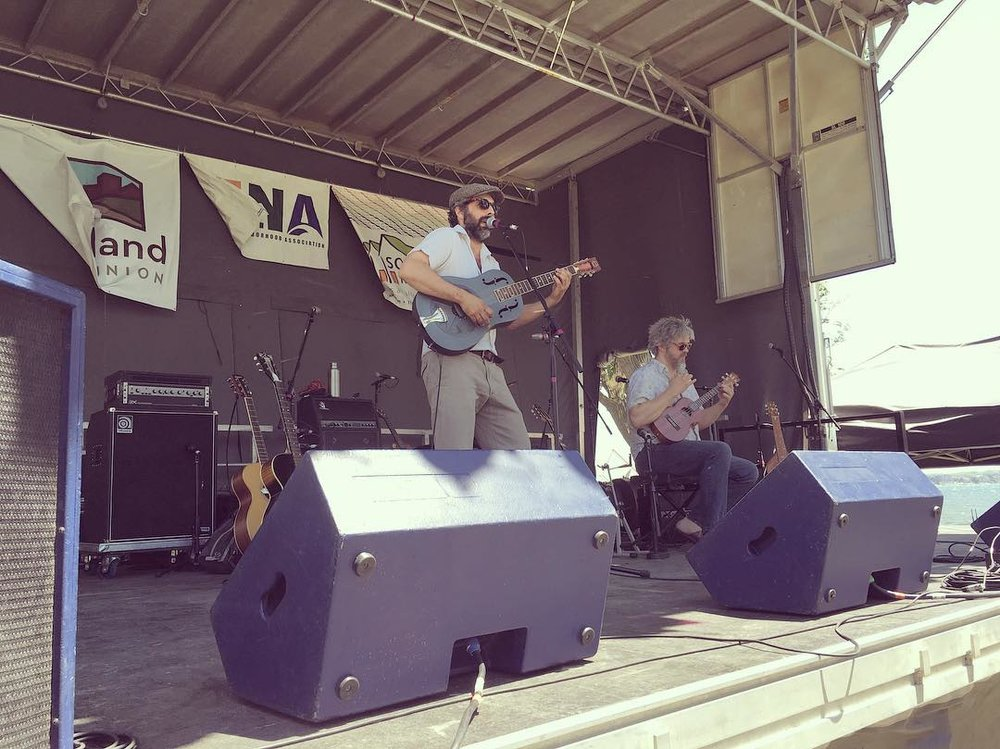 Madison duo Mal-O-Dua, playing at last year's Waterfront Festival. The proposed 2018 city of Madison budget would make additional grant funding available for festivals and similar events.