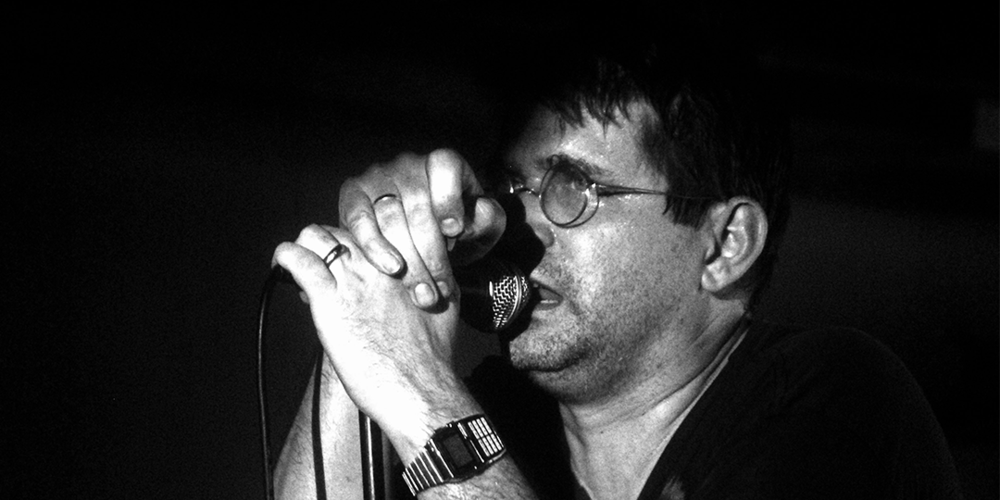 Steve Albini performing with Shellac in 2010. Photo by  Dani De La Cuesta on Flickr .