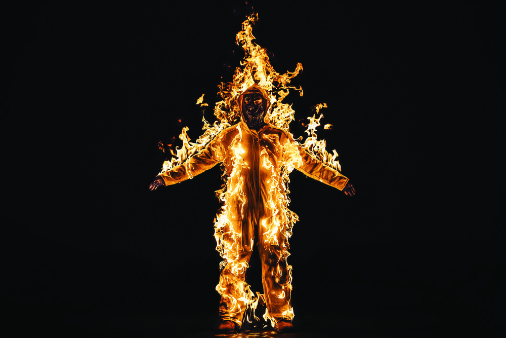 """Performance artist Cassils spoke with Phoebe Schlough in June about their video piece """"Inextinguishable Fire,"""" which was exhibited as part of the Madison Museum of Contemporary Art's """"Digital Aura"""" show."""