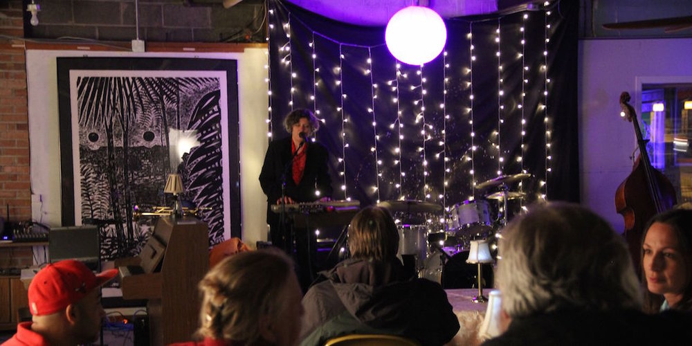 Stephanie Rearick performs at the first Evening At Maria's event in January 2015.