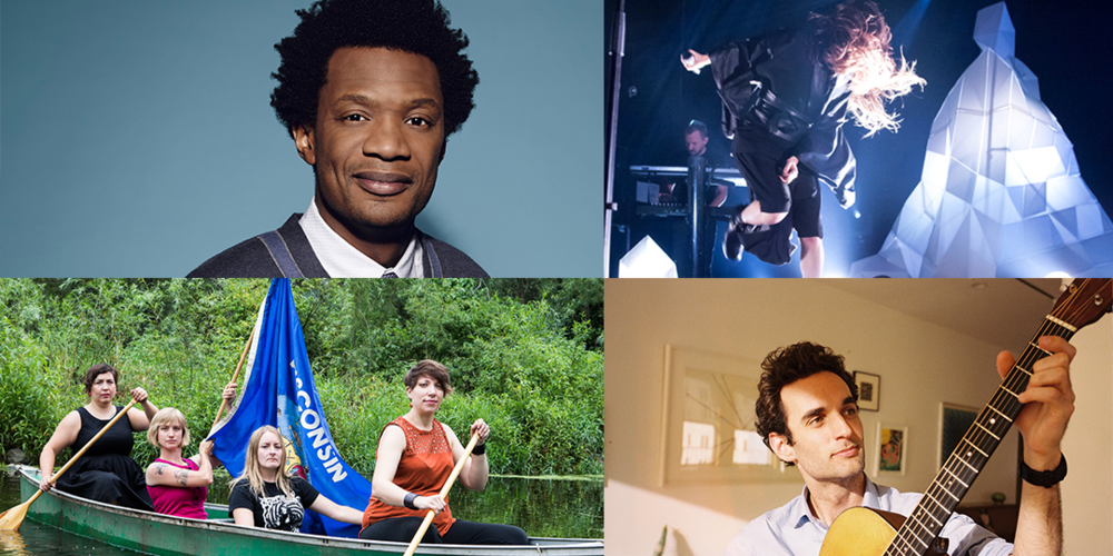 Clockwise from top left: Seaton Smith is at Comedy Club on State through September 26, Zola Jesus plays Wisconsin Union Theater on September 24, Julian Lage plays The Frequency on September 26, Venus In Furs is at the Frequency on September 26.