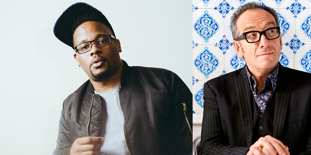 Open Mike Eagle (left) plays The Frequency on July 24; Elvis Costello plays Overture Hall on July 23.
