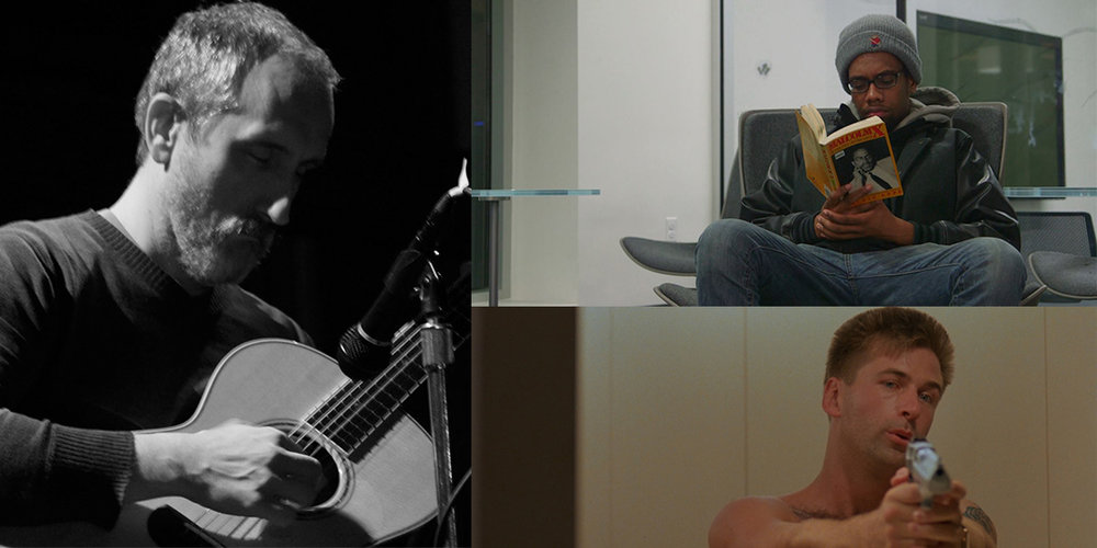 "Clockwise from left: Chuck Johnson plays July 7 at Mickey's Tavern; CRASHprez plays July 4 at The Frequency; ""Miami Blues"" screens July 3 at UW Cinematheque."