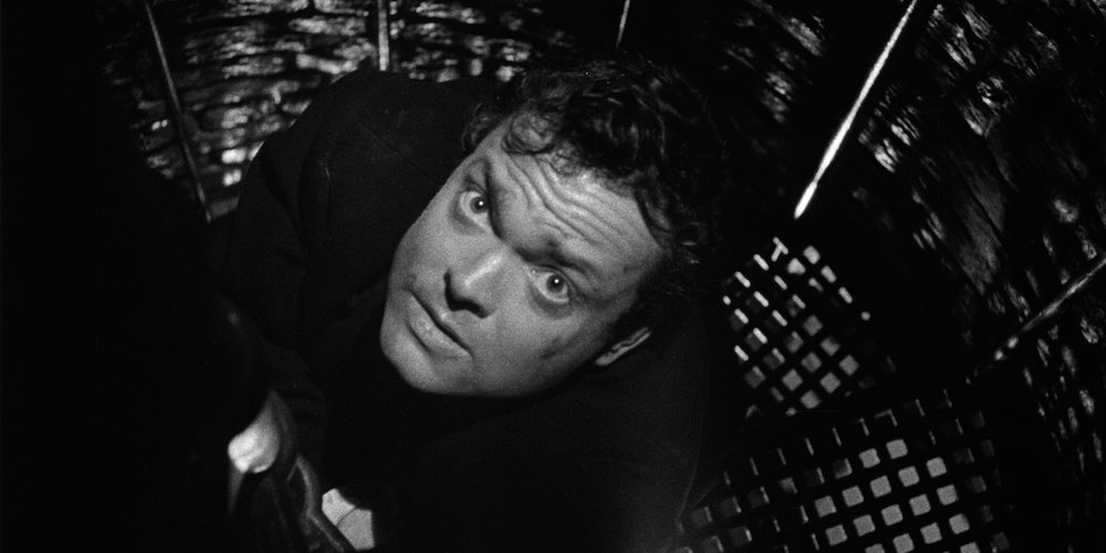"Orson Welles in ""The Third Man."""