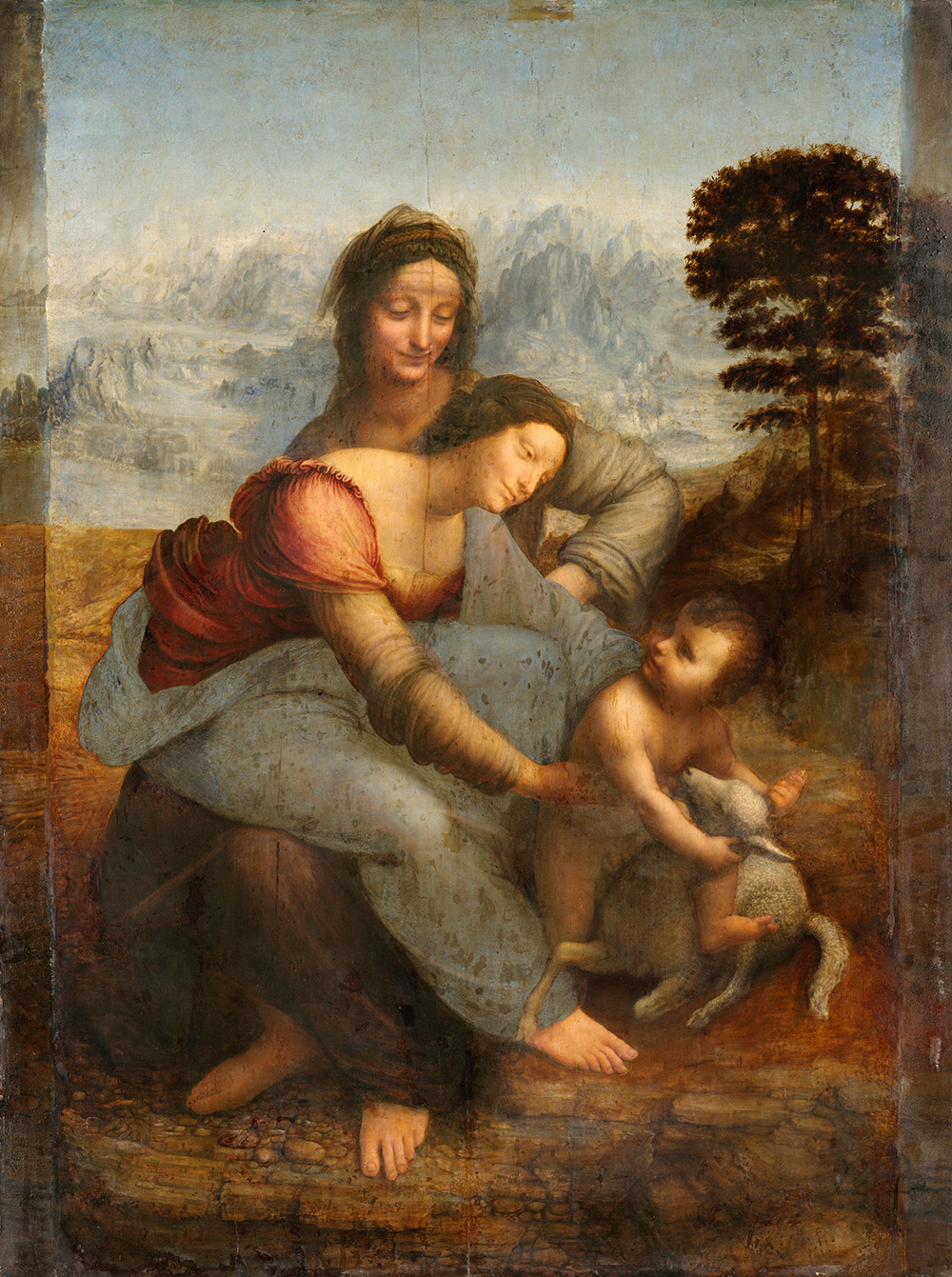 "Leonardo da Vinci, ""The Virgin And Child With St. Anne."" Image via Wikimedia Commons."