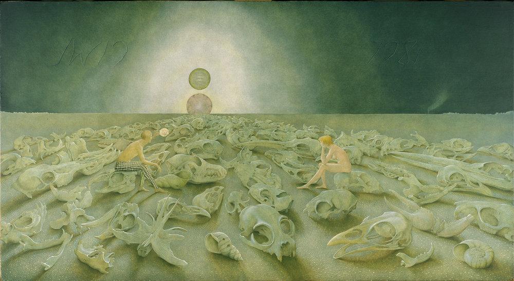 """John Wilde, """"Muss es Sein? Es Muss Sein!""""1979-1981. Image courtesy Chazen Museum of Art."""