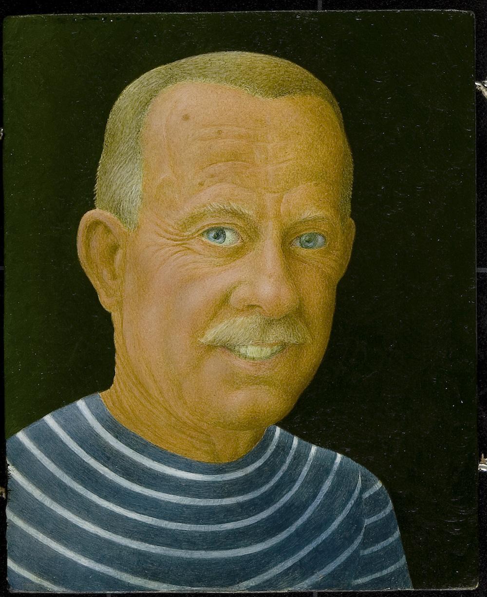 """John Wilde, """"Bemused & Befuddled,"""" 1990. Image courtesy Chazen Museum of Art."""
