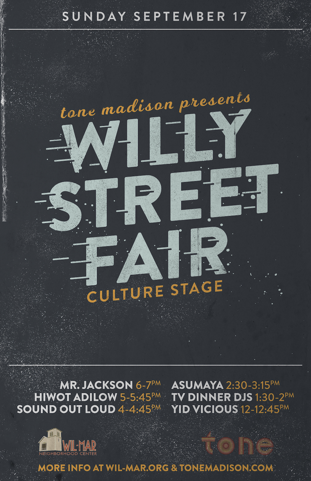 9/17/2017: Willy Street Fair Culture Stage Presented by Tone Madison