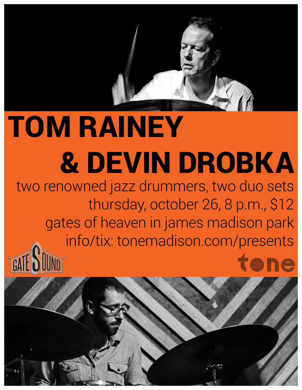 10/26/2017: Tom Rainey And Devin Drobka Duo