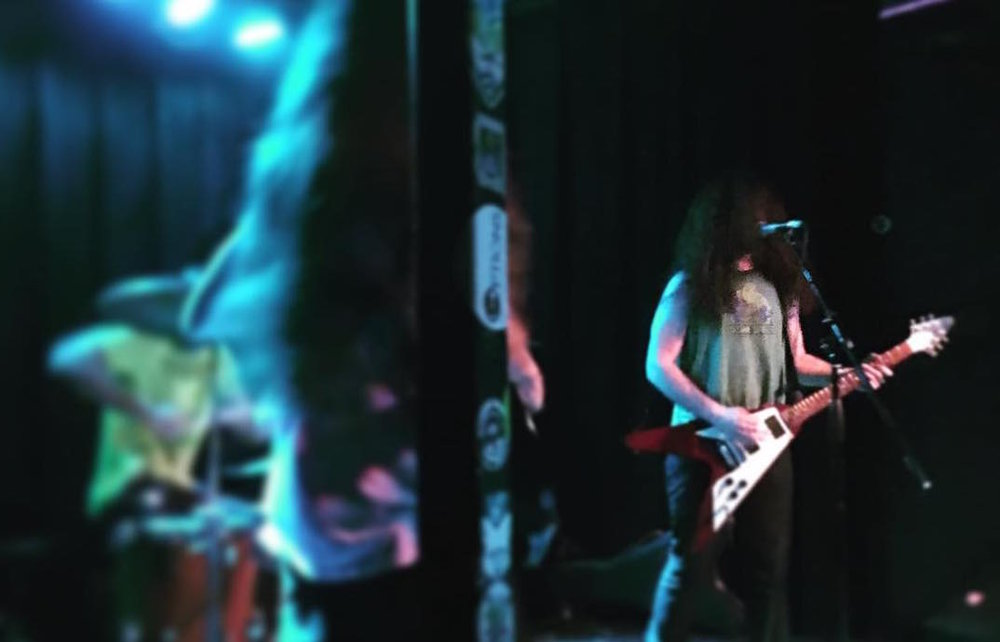 Oozing Wound performing at The Frequency in October 2016. Photo by Scott Gordon.