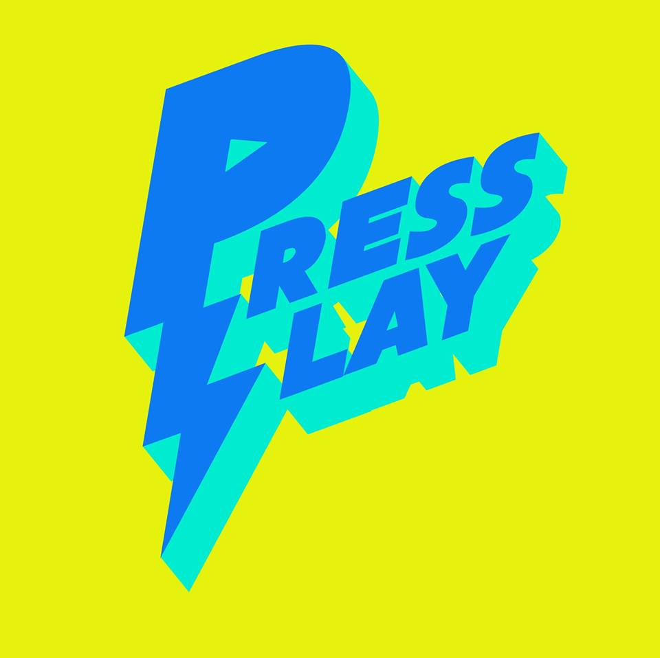 A logo for Press Play, from a    May 2018 Facebook event   .